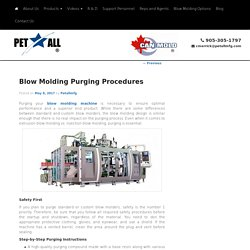 Blow Molding Purging Procedures