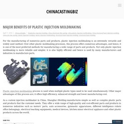 Major Benefits Of Plastic Injection Moldmaking – chinacastingbiz