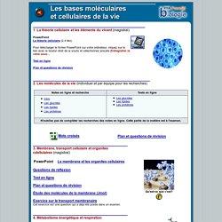 Bases moléculaires et cellulaire du vivant