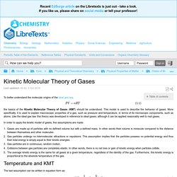 Kinetic Molecular Theory of Gases - Chemistry LibreTexts