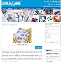 Molecular Sieves Desiccant Packets Supplier