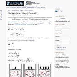 The Molecular View of Equilibrium