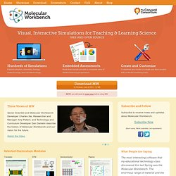 Molecular Workbench - Visual, Interactive Simulations for Teaching & Learning Science