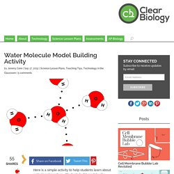 Water Molecule Model Building Activity