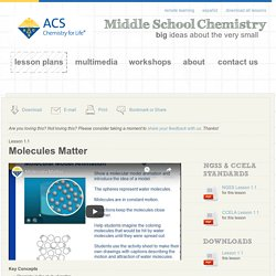 Chapter 1: Matter—Solids, Liquids, and Gases