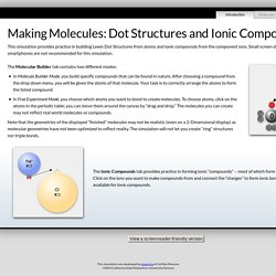 Making Molecules - eLearning, Cal Poly Pomona University