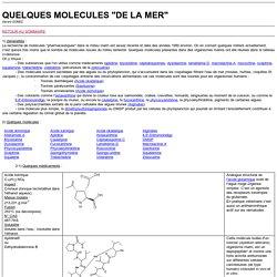 Molécules de la mer
