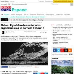 Philae : il y a bien des molécules organiques sur la comète Tchouri !