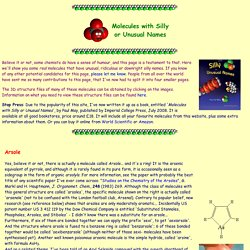 Molecules with Silly or Unusual Names