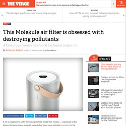 This Molekule air filter is obsessed with destroying pollutants