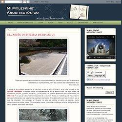 Mi Moleskine Arquitectónico: EL JARDÍN DE PIEDRAS DE RYOAN-JI.