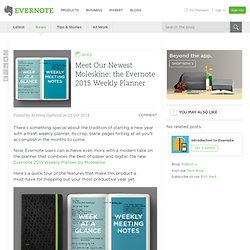 Meet Our Newest Moleskine: the Evernote 2015 Weekly Planner