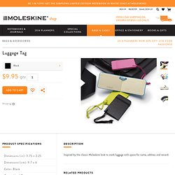 Moleskine Luggage Tags (3.75 x 2.25)
