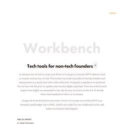 molfar.io — Workbench: tech tools for non-tech founders
