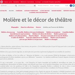 Molière et le décor de théâtre