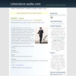MOLIÈRE – L'Avare- lien vers la page des fichiers audio
