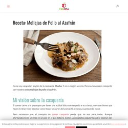 Receta: Mollejas de Pollo al Azafrán con Almendras