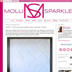 Molli Sparkles: TGIFF - No Value Does Not Equal Free
