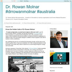 Dr. Rowan Molnar #drrowanmolnar #australia: Know the hidden traits of Dr Rowan Molnar