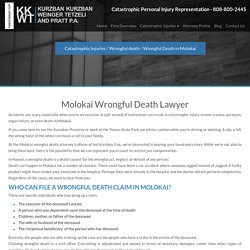 Molokai Wrongful Death Lawyer