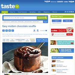 Easy Molten Chocolate Souffle Recipe