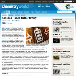 Molten air – a new class of battery