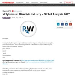Molybdenum Disulfide Industry – Global Analysis 2017 - ReportsWeb