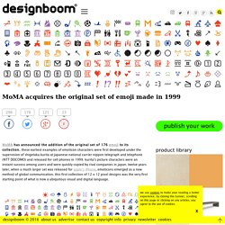 MoMA acquires original emoji made in 1999