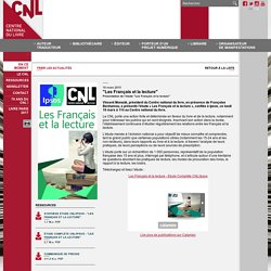En ce moment - Site internet du Centre national du livre