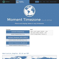 Moment Timezone