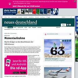 24.01.2011: Momentaufnahme (Tageszeitung Neues Deutschland)
