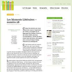 Les Moments Littéraires – numéro 28