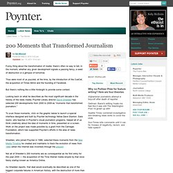 200 Moments that Transformed Journalism