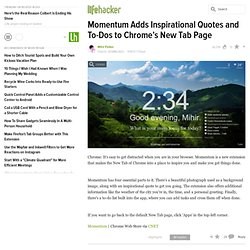 Momentum Adds Inspirational Quotes and To-Dos to Chrome's New Tab Page