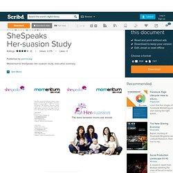 Momentum SheSpeaks Her-suasion Study