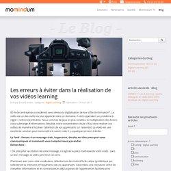 Momindum - Les erreurs à éviter dans la réalisation de vos vidéos learning