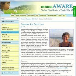 moms AWARE - Summer Sun Protection