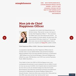 Mon job de Chief Happiness Officer