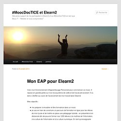 #MoocDocTICE et Elearn2