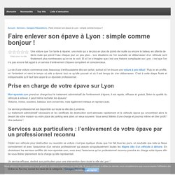Mon Epaviste : épaviste gratuit à Lyon