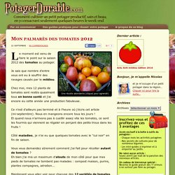 Mon palmarès des tomates 2012 -