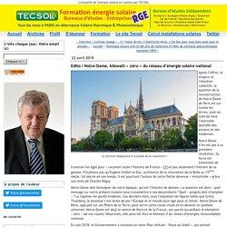 Notre-Dame, kilowatt « zéro » du réseau d'énergie solaire national - Tecsol