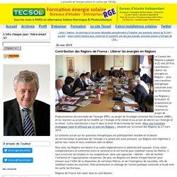 Contribution des Régions de France : Libérer les énergies en Régions -Tecsol