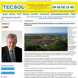 Mise en service de la centrale photovoltaïque avec stockage de Sainte-Rose en Guadeloupe - Tecsol