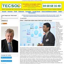 Chine : L'électricité solaire moins chère que celle du réseau -Tecsol