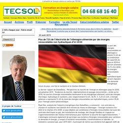 Plus de 72% de l'électricité de l'Allemagne alimentée par des énergies renouvelables non hydrauliques d'ici 2030 - Tecsol