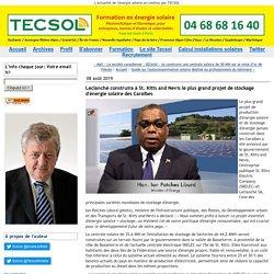 Leclanché construira à St. Kitts and Nevis le plus grand projet de stockage d'énergie solaire des Caraïbes - Tecsol