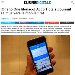 [One to One Monaco] AccorHotels poursuit sa mue vers le mobile first