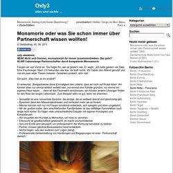 Monamorie oder was Sie schon immer über Partnerschaft wissen wollten! « Oxly3