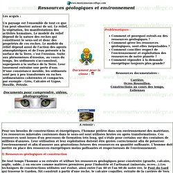 Ressources géologiques et environnement, www.monanneeaucollege.com